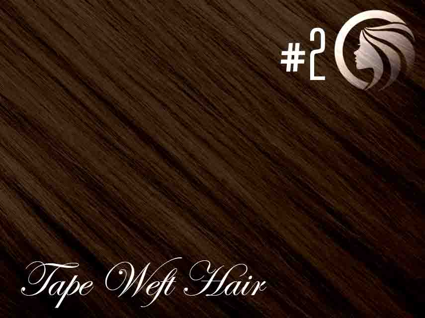 #2 Dark Brown – 18″ – 60 gram – 24 Pieces – Athena Tape Hair